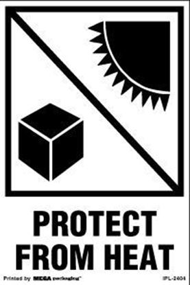Picture of Protect From Heat - Printed Label 4 x 6