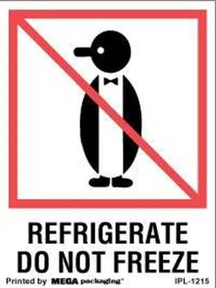 Picture of Refrigerate Do Not Freeze - Printed Label 3 x 4