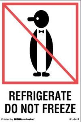 Picture of Refrigerate Do Not Freeze - Printed Label 4 x 6