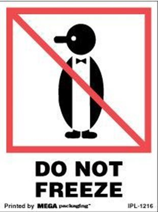 Picture of Do Not Freeze - Printed Label 3 x 4