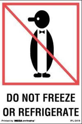 Picture of Do Not Freeze Or Refrigerate - Printed Label