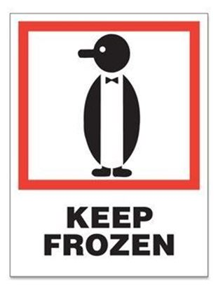 Picture of Keep Frozen - Red and Black Printed Label