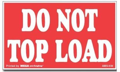 Picture of Do Not Top Load - Red and White