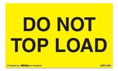 Picture of Do Not Top Load - Yellow