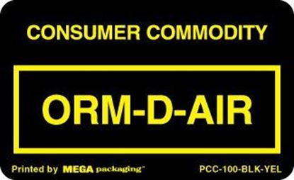 Picture of Consumer Commodity - Black and Yellow Printed Label 2-1/4 x 1-3/8