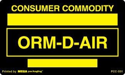 Picture of Consumer Commodity - Black and Yellow Printed Label 3 x 5
