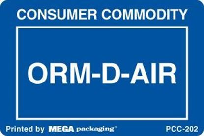 Picture of Consumer Commodity - Blue and White Printed Label 2 x 3