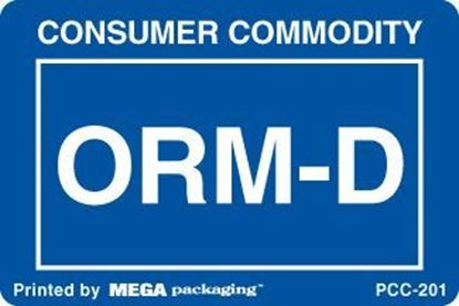 Picture of Consumer Commodity ORMD - Blue and White Printed Label 2 x 3