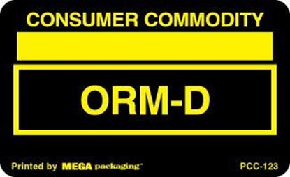 Picture of Consumer Commodity ORMD - Black and Yellow Printed Label 2-1/4 x 1-3/8