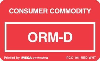 Picture of Consumer Commodity - Red Printed Label 2-1/4 x 1-3/8