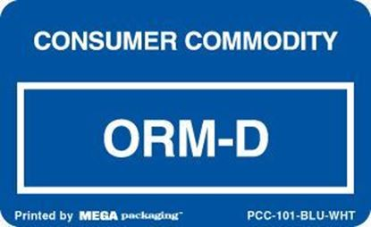 Picture of Consumer Commodity ORMD - Blue and White Printed Label  2-1/4 x 1-3/8