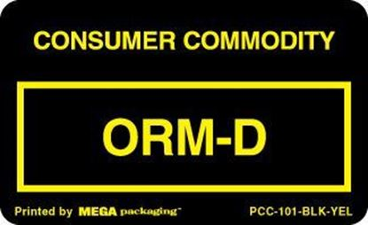 Picture of Consumer Commodity ORMD - Black and Yellow 2-1/4 x 1-3/8