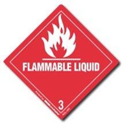 Picture of Flammable Liquid 2 - Red Printed Label 2 x 2