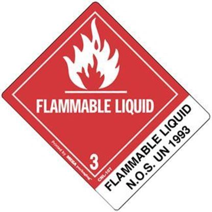 Picture of Flammable Liquid - NOS UN 1993  Printed Label