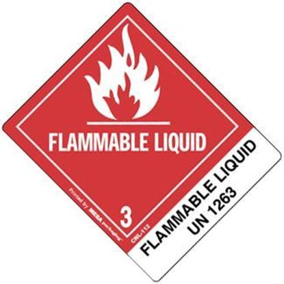 Picture of Flammable Liquid - NOS UN 1263 Printed Label
