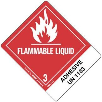 Picture of Flammable Liquid - Adhesive UN 1133 Printed Label