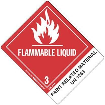 Picture of Flammable Liquid - Paint Related Material Printed Label