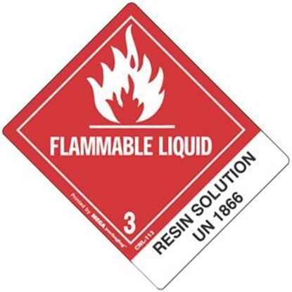 Picture of Flammable Liquid - Resin Solution Printed Label