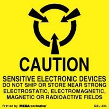 Picture of Caution Sensitive Electronic Devices 4 x 4