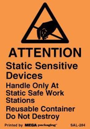 Picture of Attention Static Sensitive Devices - Orange