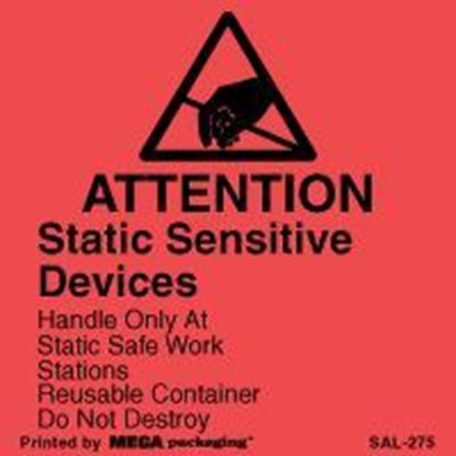 Picture of Attention Static Sensitive Devices - Red
