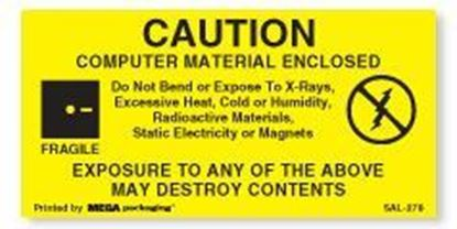 Picture of Caution Computer Material Enclosed 3 x 1-1/2