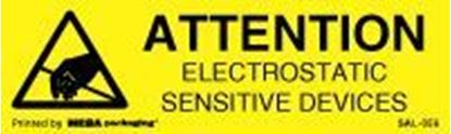 Picture of Caution Electrostatic Sensitive Devices 3/8 x 1-1/4