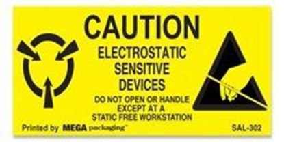 Picture of Caution Electrostatic Sensitive Devices 1-1/2 x 3