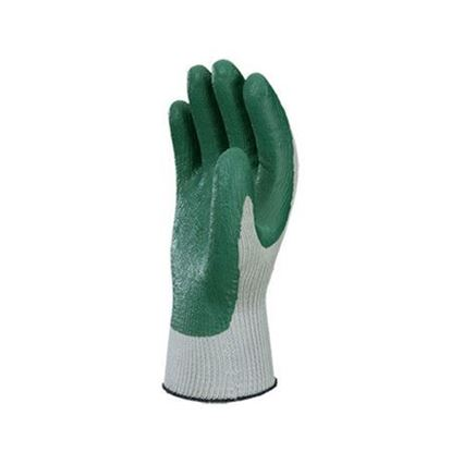 Picture of Atlas® Flat Dipped Green Colored Nitrile Coating Gloves