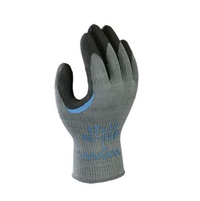 Picture of Atlas®  Flat Dipped Black Rubber Coated Gloves - Reinforced Thumb Crotch