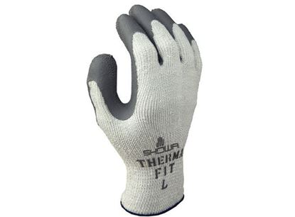 Picture of Atlas® Grey Rubber Coated Palm Gloves - Terry Cloth Liner