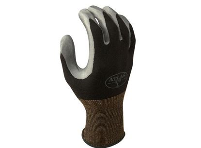 Picture of Atlas® Grey Nitrile Coated Gloves - Black Nylon Liner