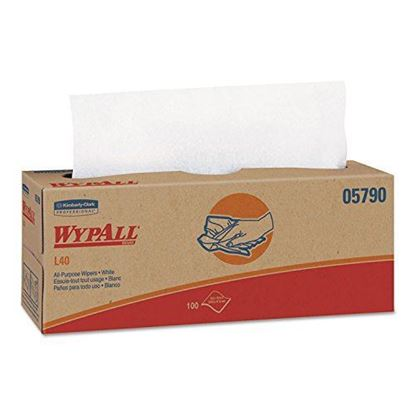 Picture of Wypall White Wipers Pop-Up Box
