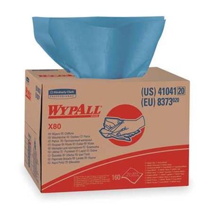 Picture of Wypall x 80 Blue Wipers