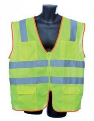 Picture of Class 2 Lime Green Orange Binding Vest