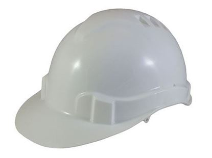 Picture of White Hard Hat - Pin Lock Size Adjustment