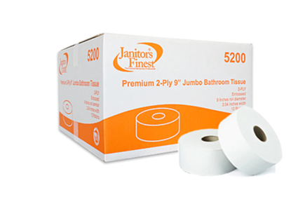 """Picture of Janitors Finest 9"""" Jumbo Bath Tissue"""
