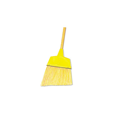 Picture of Yellow Upright Angle Broom with Wooden Handle