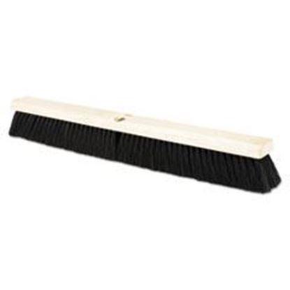 """Picture of Black Tampico Push Brush 24"""""""